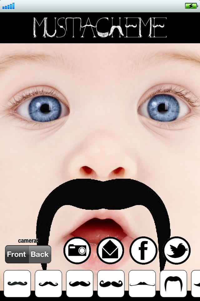 MustacheMe! Прохладный Усы на лице